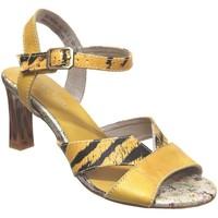 Zapatos Mujer Sandalias Laura Vita Hucmiso 02 Cuero amarillo