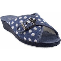 Zapatos Mujer Pantuflas Garzon Ir por casa señora  753.140 azul Azul