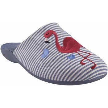 Zapatos Mujer Pantuflas Garzon Ir por casa señora  7351.161 azul Rojo