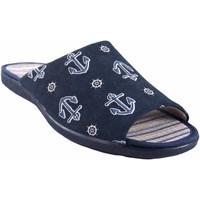 Zapatos Hombre Pantuflas Garzon Ir por casa caballero  6975.133 azul Azul