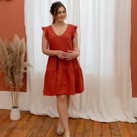 textil Mujer Vestidos cortos Céleste DAHLIA Terracota