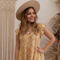 textil Mujer Vestidos cortos Céleste DAHLIA Amarillo / Blanco