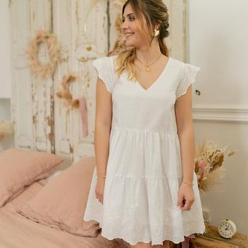 textil Mujer Vestidos cortos Céleste DAHLIA Blanco