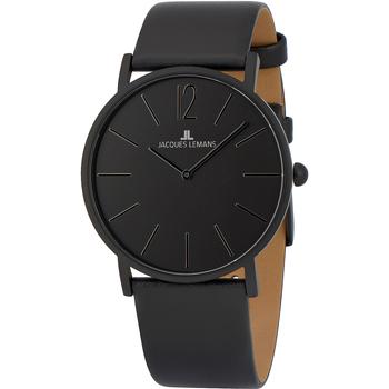 Relojes & Joyas Mujer Relojes analógicos Jacques Lemans 1-2030K, Quartz, 40mm, 5ATM Negro