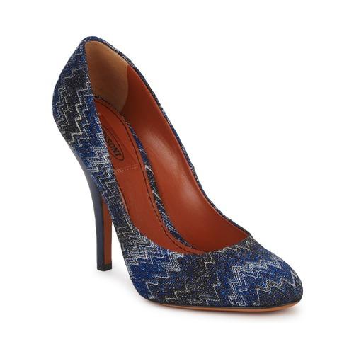Los zapatos más populares para hombres y mujeres Zapatos especiales Missoni VM005 Azul