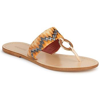 Zapatos Mujer Chanclas Missoni VM048 Naranja