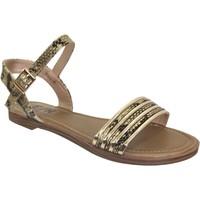 Zapatos Mujer Sandalias Elue par nous Jebel Negro/Oro