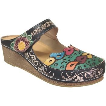 Zapatos Mujer Zuecos (Clogs) Laura Vita Facscineo 09 Negro multi