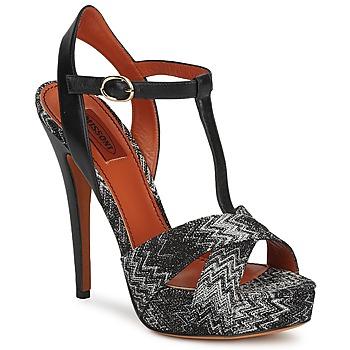 Zapatos Mujer Sandalias Missoni VM034 Negro / Blanco