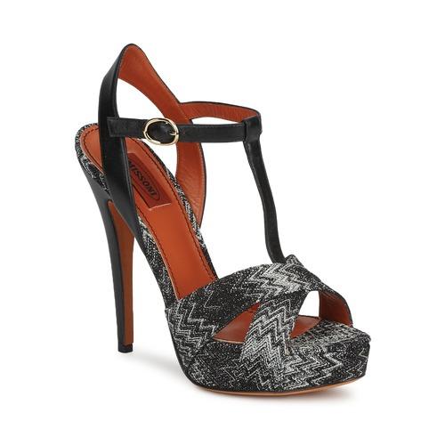 Los zapatos más populares para hombres y mujeres Zapatos especiales Missoni VM034 Negro / Blanco