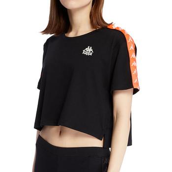 textil Mujer Camisetas manga corta Kappa  Negro