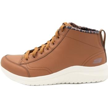 Zapatos Mujer Zapatillas altas Skechers Ultra Flex 2.0 Plush Zone Marrón