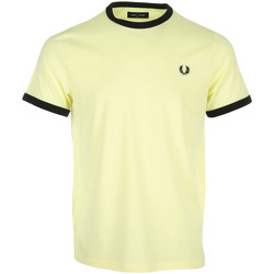 textil Hombre Camisetas manga corta Fred Perry Ringer T-Shirt Amarillo