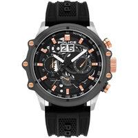 Relojes & Joyas Hombre Relojes analógicos Police PL16018JSTU.13P, Quartz, 48mm, 10ATM Plata