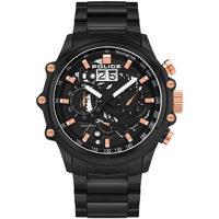 Relojes & Joyas Hombre Relojes analógicos Police PL16018JSB.02M, Quartz, 48mm, 10ATM Negro