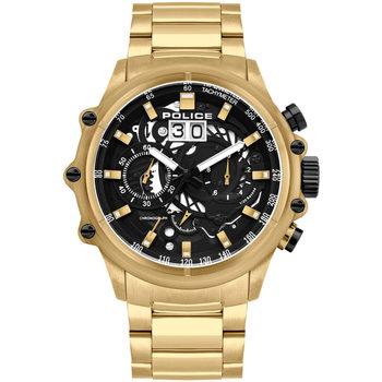 Relojes & Joyas Hombre Relojes analógicos Police PL16018JSG.02M, Quartz, 48mm, 10ATM Oro