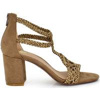 Zapatos Mujer Sandalias Exé Shoes SANDALIA RAFIA TRENZADA TAUPE ADELE-633 Color Taupe