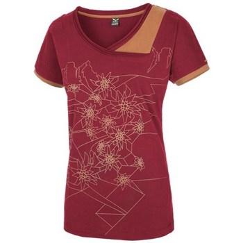 textil Mujer Camisetas manga corta Salewa 251661651 Color cereza