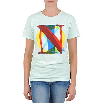 textil Mujer camisetas manga corta Nixon PACIFIC Verde