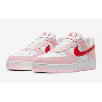 Zapatos Zapatillas bajas Nike Air Force 1 Low Love Letter Tulip Pink/University Red-White