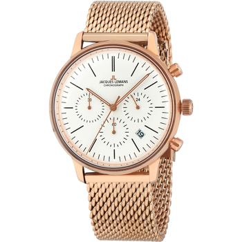 Relojes & Joyas Mujer Relojes analógicos Jacques Lemans N-209M, Quartz, 40mm, 5ATM Oro