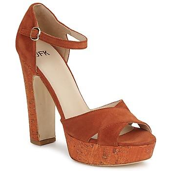 Zapatos Mujer Sandalias JFK  Naranja