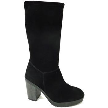 Zapatos Hombre Botas urbanas Andares BOTA SERRAJE LISA Negro