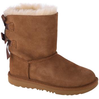 Zapatos Niños Botas de nieve UGG Bailey Bow II Kids Marron