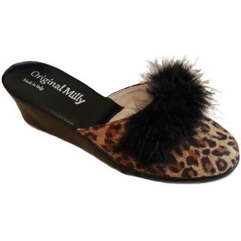 Zapatos Mujer Zuecos (Mules) Milly MILLY300CIGNOanimal nero