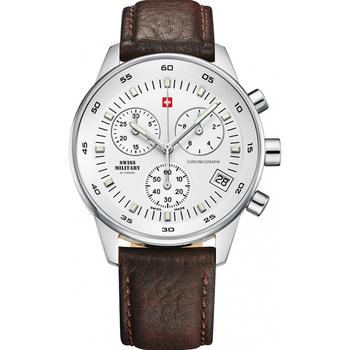 Relojes & Joyas Hombre Relojes analógicos Swiss Military By Chrono SM30052.04, Quartz, 41mm, 5ATM Plata