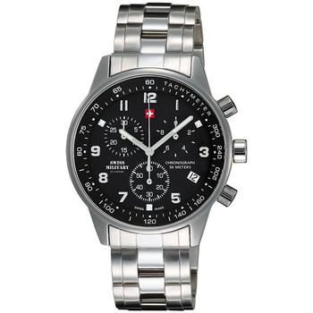 Relojes & Joyas Hombre Relojes analógicos Swiss Military By Chrono SM34012.01, Quartz, 41mm, 5ATM Plata