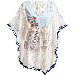 textil Mujer Pareos Isla Bonita By Sigris Poncho Blanco