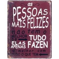 Casa Cuadros, pinturas Signes Grimalt Placa Pared Pessoas Felizes Rojo