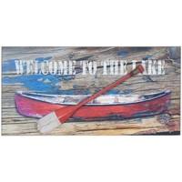 Casa Cuadros, pinturas Signes Grimalt Placa Pared Barca Con Remo Multicolor