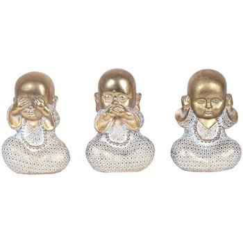 Casa Figuras decorativas Signes Grimalt Budas Set 3 Unidades Dorado