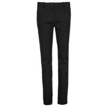 textil Mujer Pantalones chinos Sols GUSTAVE WOME Negro profundo