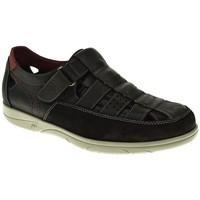 Zapatos Hombre Sandalias Fluchos SANDALIA HOMBRE  NEGRO Negro