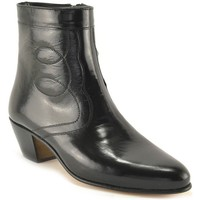 Zapatos Hombre Botas de caña baja Marttely Design Botines de piel con tacon cubano by Noir