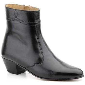 Zapatos Hombre Botas de caña baja Nikkoe Shoes For Men Botines de piel con tacon cubano by Nikkoe Noir