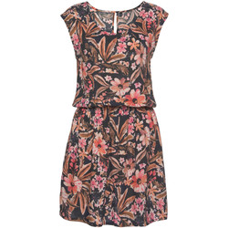 textil Mujer Vestidos cortos Lascana Vestido de verano manga corta Flower Marfil