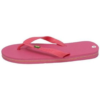 Zapatos Mujer Chanclas H.f Shoes Chanclas brasil flag rosa