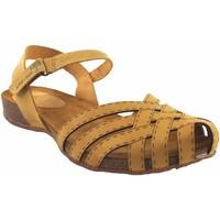 Zapatos Mujer Sandalias Interbios Sandalia señora  4479 mostaza Amarillo