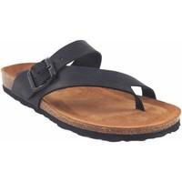 Zapatos Mujer Chanclas Interbios Sandalia señora  7119 negro Negro