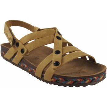 Zapatos Mujer Sandalias Interbios Sandalia señora  7200-c mostaza Amarillo