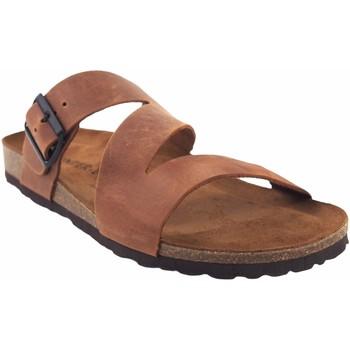 Zapatos Hombre Sandalias Interbios Sandalia caballero  9553 cuero Marrón