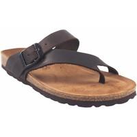 Zapatos Mujer Chanclas Interbios Sandalia señora  7119 marron Marrón