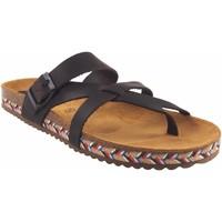 Zapatos Mujer Chanclas Interbios Sandalia señora  7121-c marron Marrón