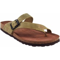 Zapatos Mujer Chanclas Interbios Sandalia señora  7119 kaki Verde