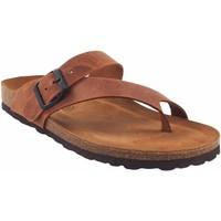 Zapatos Mujer Multideporte Interbios Sandalia señora  7119 cuero Marrón