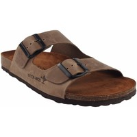 Zapatos Hombre Zuecos (Mules) Interbios Sandalia caballero  9560 taupe Marrón
